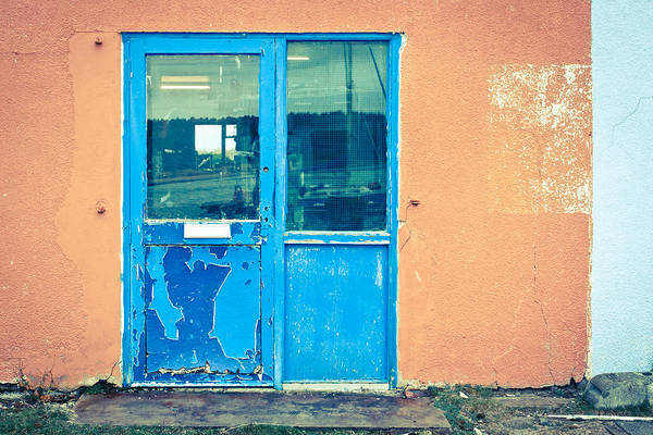 Cement Wall Art - Photograph - Blue Door by Tom Gowanlock