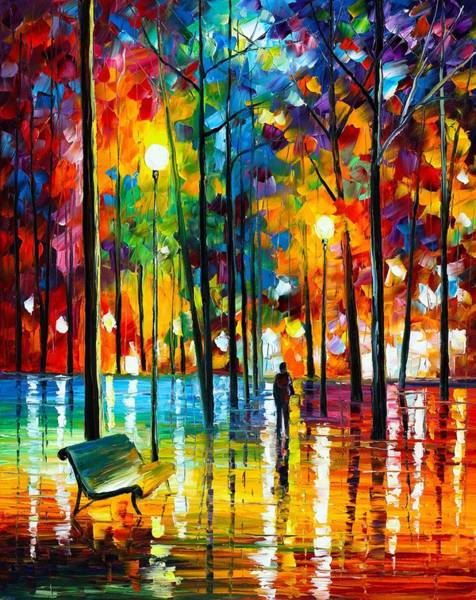 Wall Art - Painting - Blue Reflections by Leonid Afremov