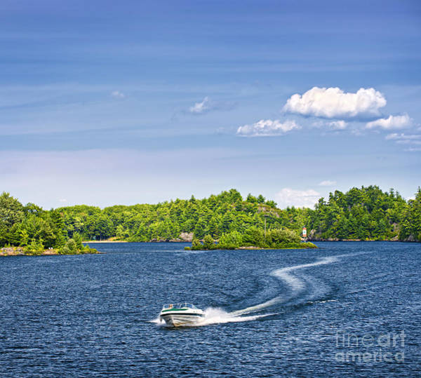 Photograph - Boating On Lake by Elena Elisseeva
