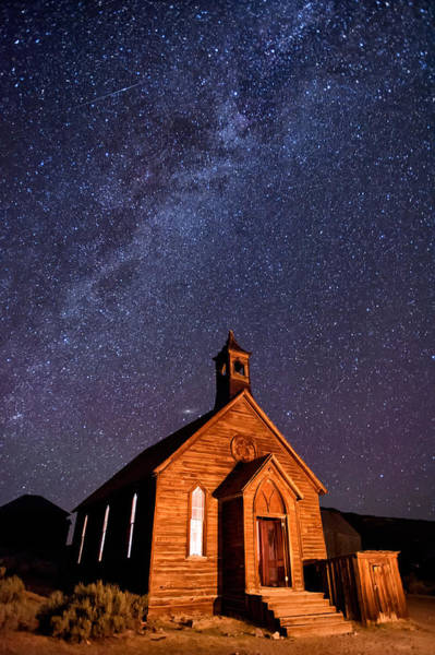 Milky Way Wall Art - Photograph - Bodie Church by Cat Connor