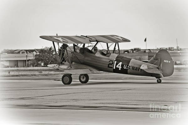 Continental Army Photograph - Boeing N2s-4 Stearman Kaydet by Charles Dobbs