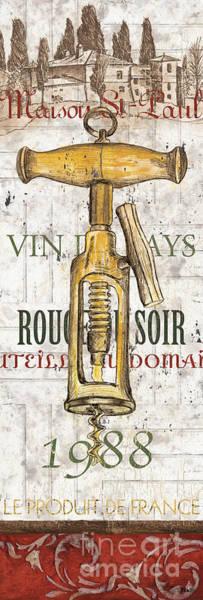 Corkscrew Wall Art - Painting - Bordeaux Blanc 1 by Debbie DeWitt