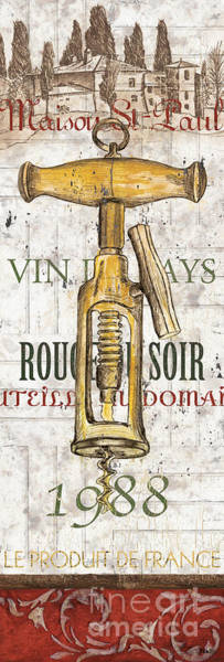 Vin Wall Art - Painting - Bordeaux Blanc 1 by Debbie DeWitt