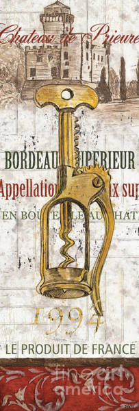Label Painting - Bordeaux Blanc 2 by Debbie DeWitt