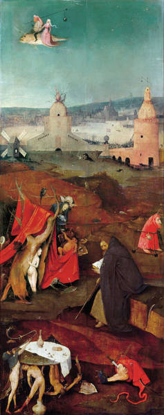 Wall Art - Painting - Bosch Temptation, C1500 by Granger