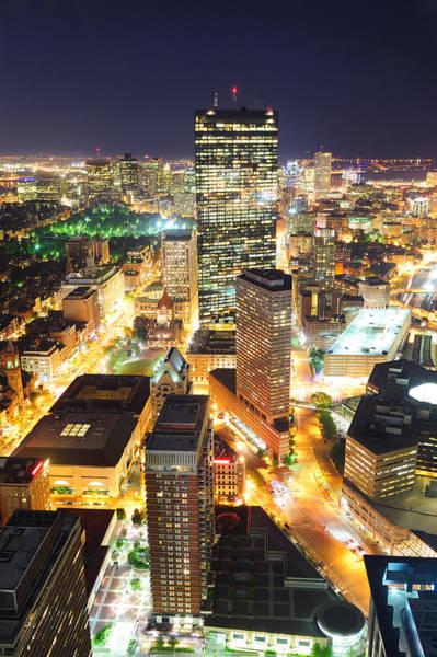Photograph - Boston At Night by Songquan Deng