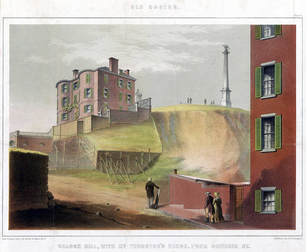Wall Art - Painting - Boston Beacon Hill, 1811 by Granger
