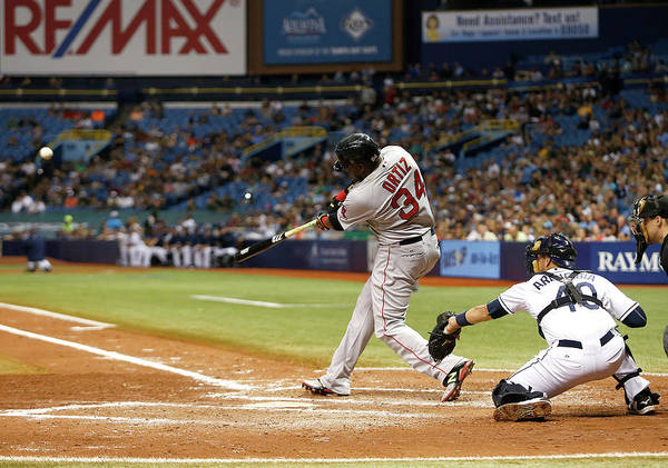 Major League Baseball Photograph - Boston Red Sox V Tampa Bay Rays by Brian Blanco