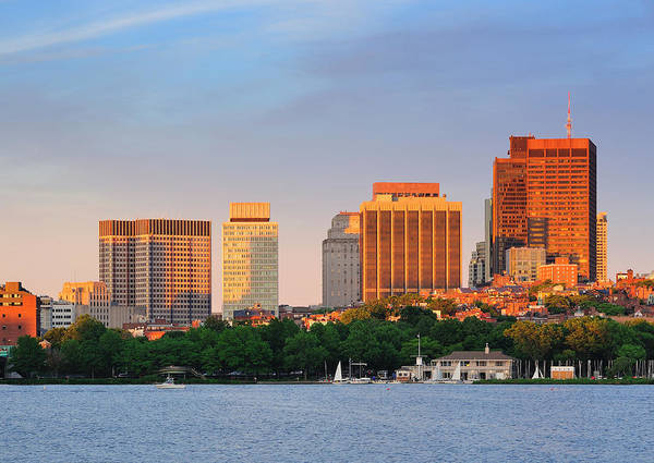 Photograph - Boston Sunset by Songquan Deng