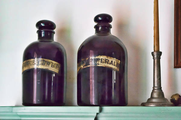 Photograph - 2 Bottles And A Candlestick by Sharon Popek