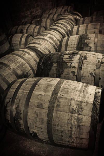 Distillery Photograph - Bourbon Barrels by Karen Varnas