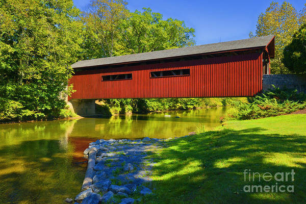 Photograph - Bowmansdale Covered Bridge by Paul W Faust -  Impressions of Light