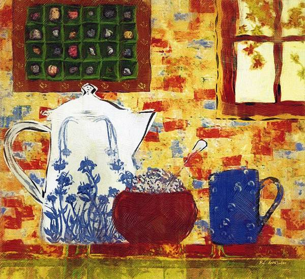 Painting - Breakfast With Pearl Jam by RC DeWinter
