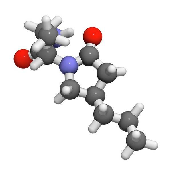 Brivaracetam Anticonvulsant Drug Molecule Art Print by Molekuul