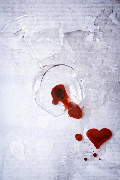 Bleeding Photograph - Broken Glass by Joana Kruse