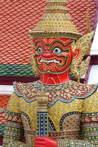 Southeast Asia Wall Art - Photograph - Buddhist Mythology Yaksa Guarding by David R. Frazier