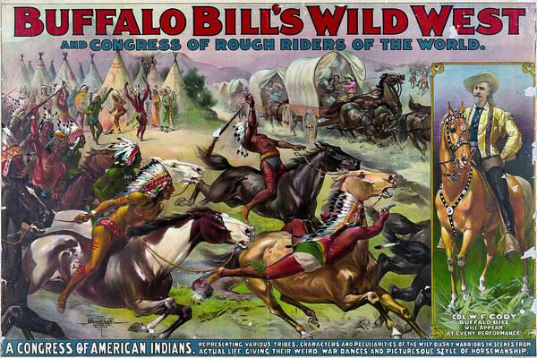 Wall Art - Painting - Buffalo Bill Poster, C1899 by Granger