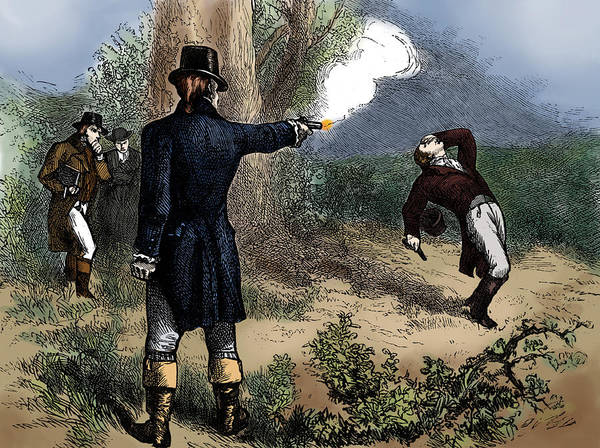 Colorization Photograph - Burr-hamilton Duel, 1804 by Science Source