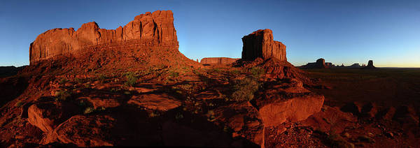 The Mitten Photograph - Buttes At Monument Valley Tribal Park by Raul Touzon