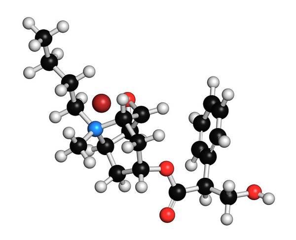 Abdominal Photograph - Butylscopolamine Drug Molecule by Molekuul