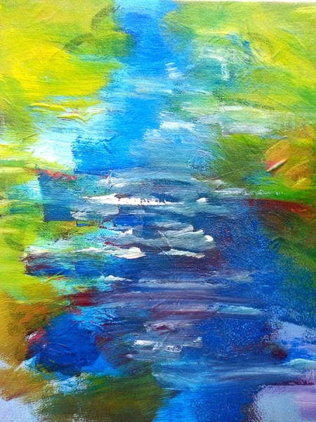 Painting - By The River by Nikki Dalton