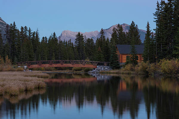 Canmore Photograph - Cabin And Bridge On Policemans Creek by Panoramic Images
