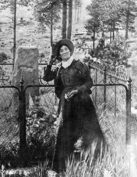 Famous Cemeteries Photograph - Calamity Jane At Wild Bill Hickoks by Science Source