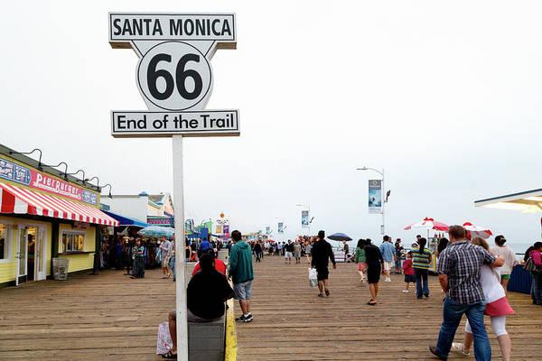 Route 66 Wall Art - Photograph - California Santa Monica, 2012 by Granger