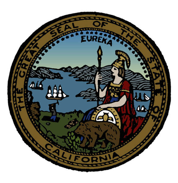 Drawing - California State Seal by Granger