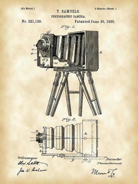 Wall Art - Digital Art - Camera Patent 1885 - Vintage by Stephen Younts
