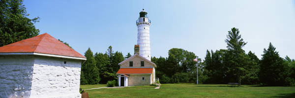 Wall Art - Photograph - Cana Island Lighthouse, Baileys Harbor by Panoramic Images
