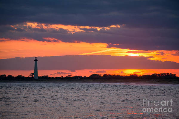 Cape May Wall Art - Photograph - Cape May Lighthouse Sunset by Michael Ver Sprill