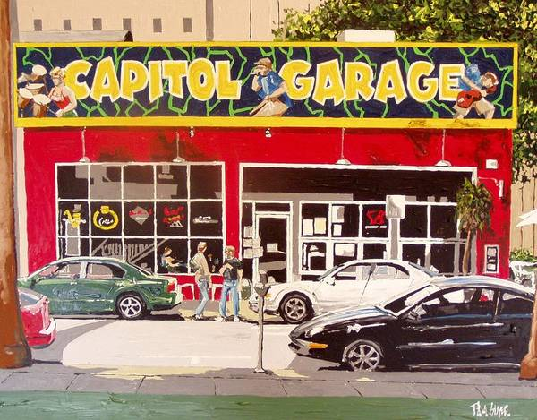 Capitol Garage Art Print by Paul Guyer