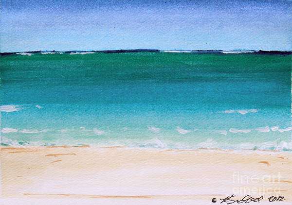Painting - Ocean Turquoise Waters by Robyn Saunders