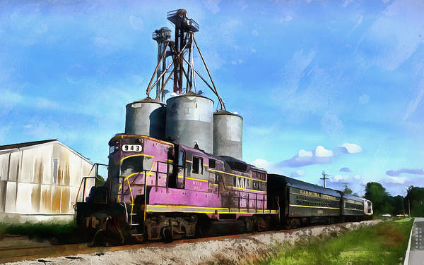 Mid Atlantic Digital Art - Carolina Southern Railroad by Joseph C Hinson