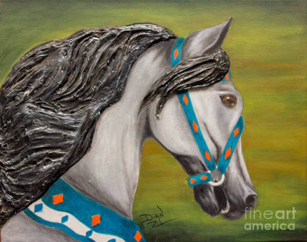 Carousel Mixed Media - Carousel Horse Storm Chaser by Dian Paura-Chellis