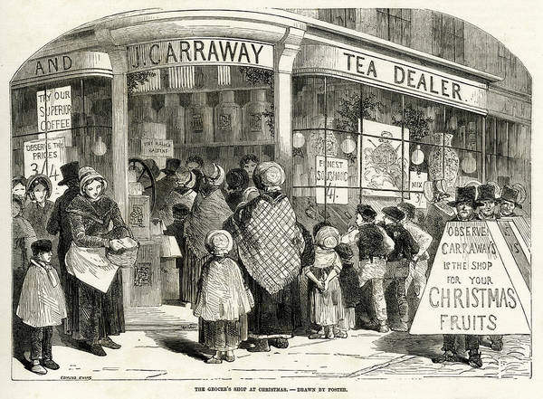 Wall Art - Drawing - Carraway's Grocery  Store,  London - by  Illustrated London News Ltd/Mar