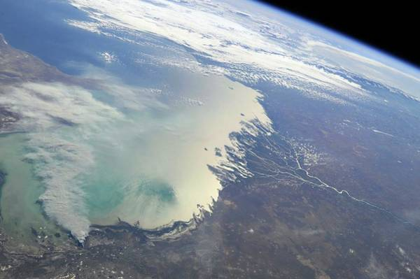 Wall Art - Photograph - Caspian Sea by Nasa/science Photo Library