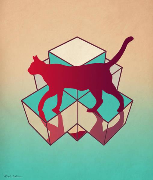 Cool Cat Digital Art - cat by Mark Ashkenazi