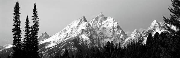 Jagged Photograph - Cathedral Group Grand Teton National by Panoramic Images