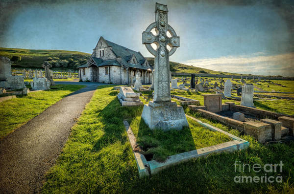 Cemetaries Wall Art - Photograph - Celtic Cross by Adrian Evans