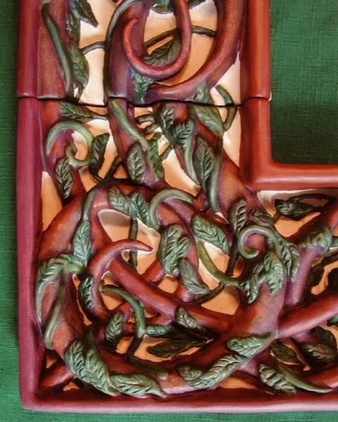 Ceramic Art - Celtic Tree Of Life Detail by Charles Lucas