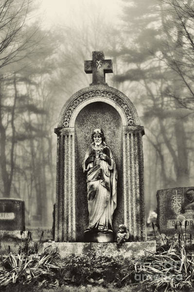 Gravestone Photograph - Cemetery by HD Connelly