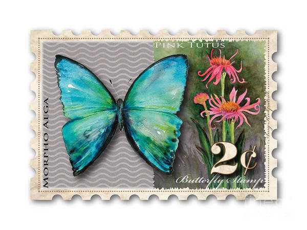 Wall Art - Painting - 2 Cent Butterfly Stamp by Amy Kirkpatrick