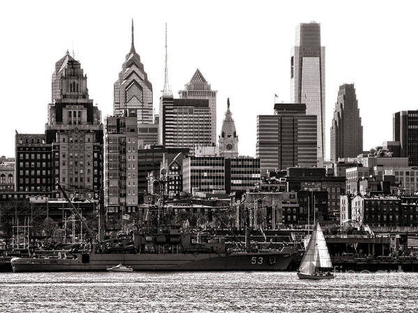 Pa Photograph - Center City Philadelphia by Olivier Le Queinec
