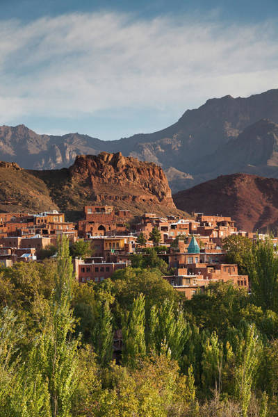 Central Asia Photograph - Central Iran, Abyaneh, Elevated Village by Walter Bibikow