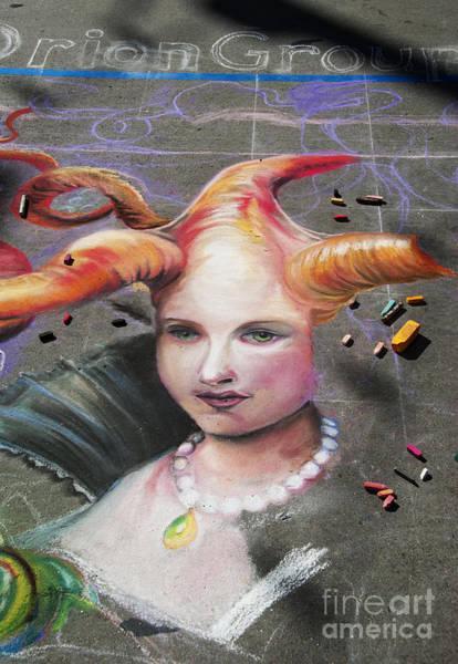 Photograph - Chalk Art.  Street Painting by Juli Scalzi