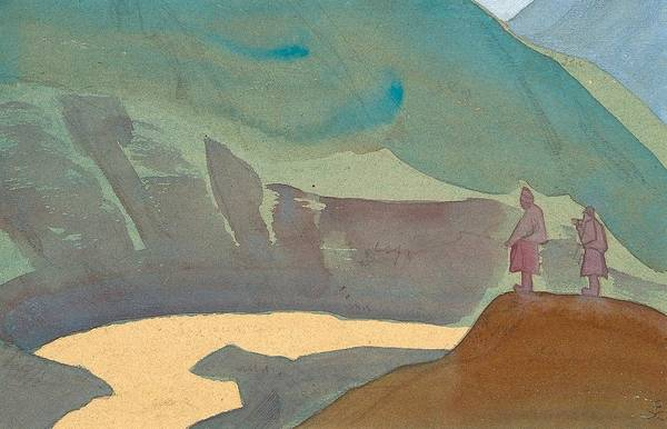 Russian River Painting - Chandra River by Nicholas Roerich