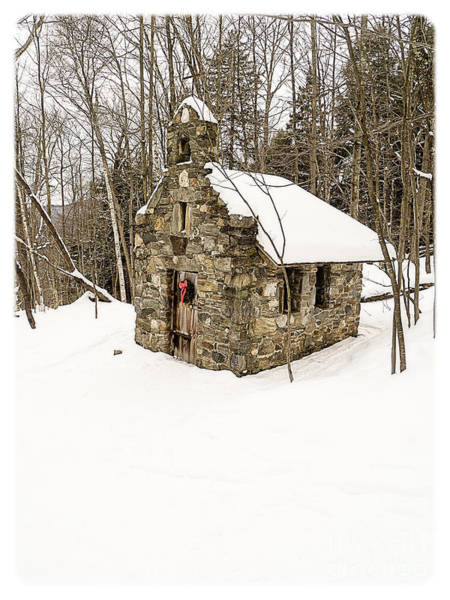 Cross Country Photograph - Chapel In The Woods Stowe Vermont by Edward Fielding