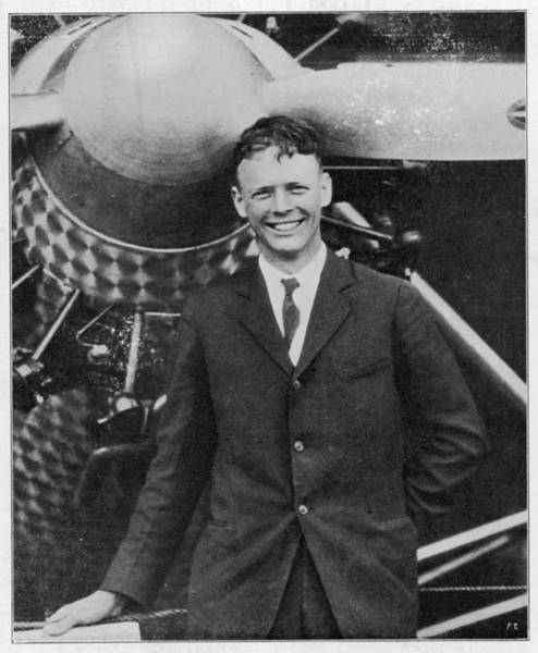 Wall Art - Photograph - Charles Augustus Lindbergh by Mary Evans Picture Library